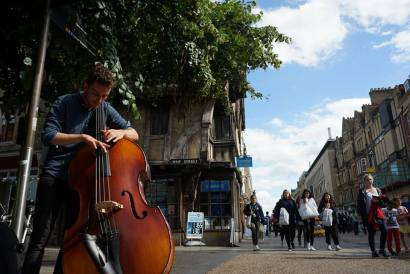 Playing on the streets of Oxford